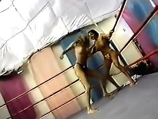 Trio In The Ring Retro Grappling