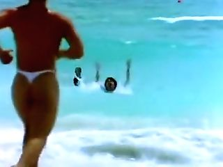 Sexy Lifeguard Milky G-string Miami
