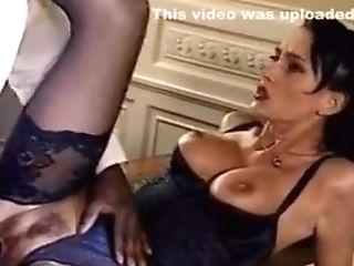Sh Retro Beautiful Hairy Lady Takes Hefty Black Man-meat