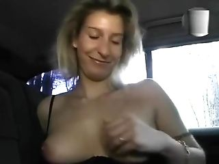 Antique Hot Blonde Plays In The Backseat