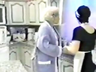 Old Woman And Maid In Kitchen
