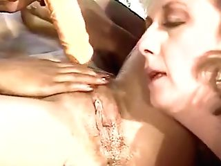 Girly-girl Soiree With Deep Faux-cock Fuck