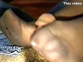 Gilf Stocking Footjob