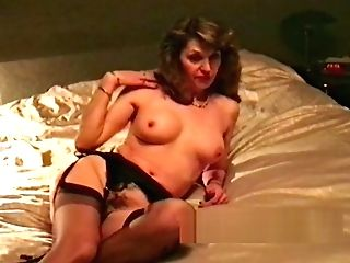 Wifey Retro Striptease And Caress Before Blow-job